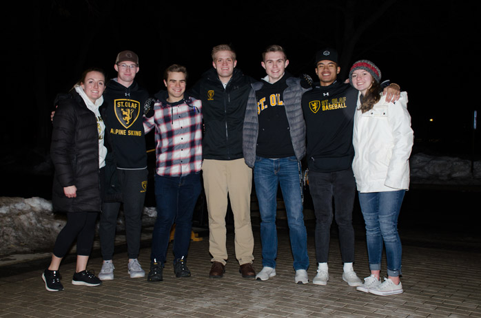 Abby and St. Olaf Valet Volunteers